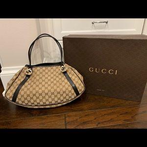 Gucci Monogram Medium GG Twins Shoulder Bag